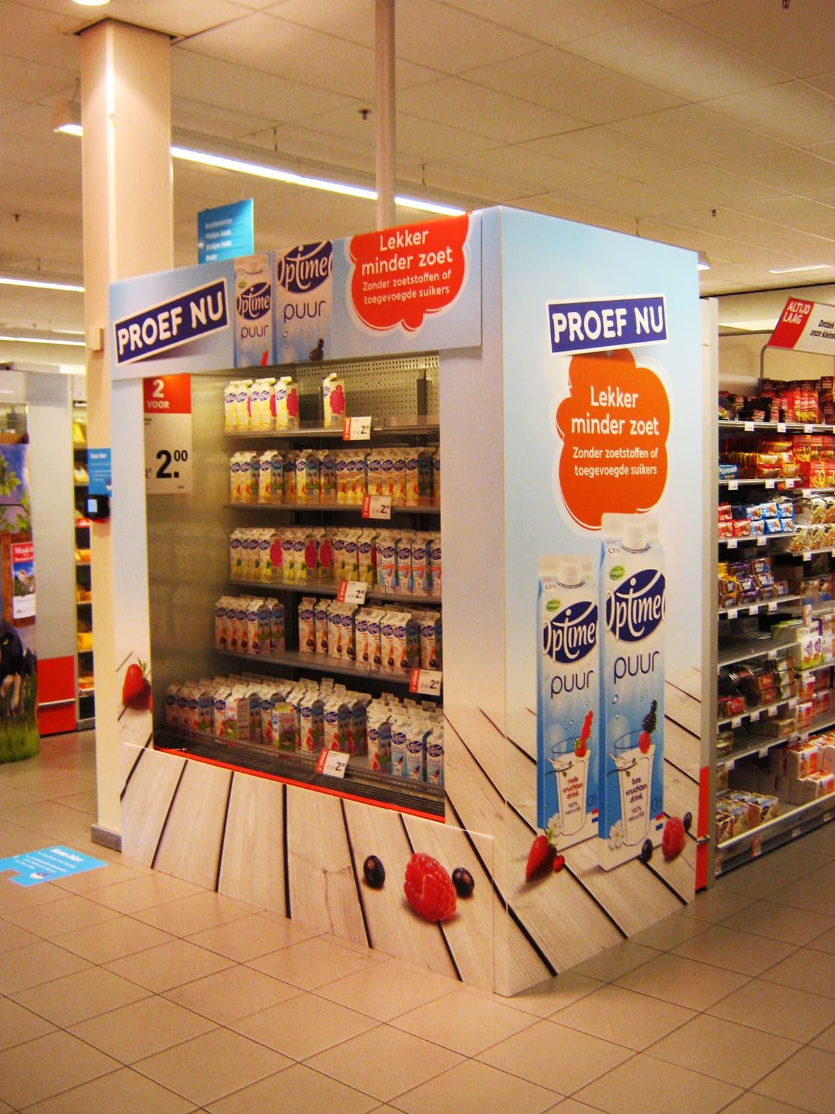 schappen display supermarkt
